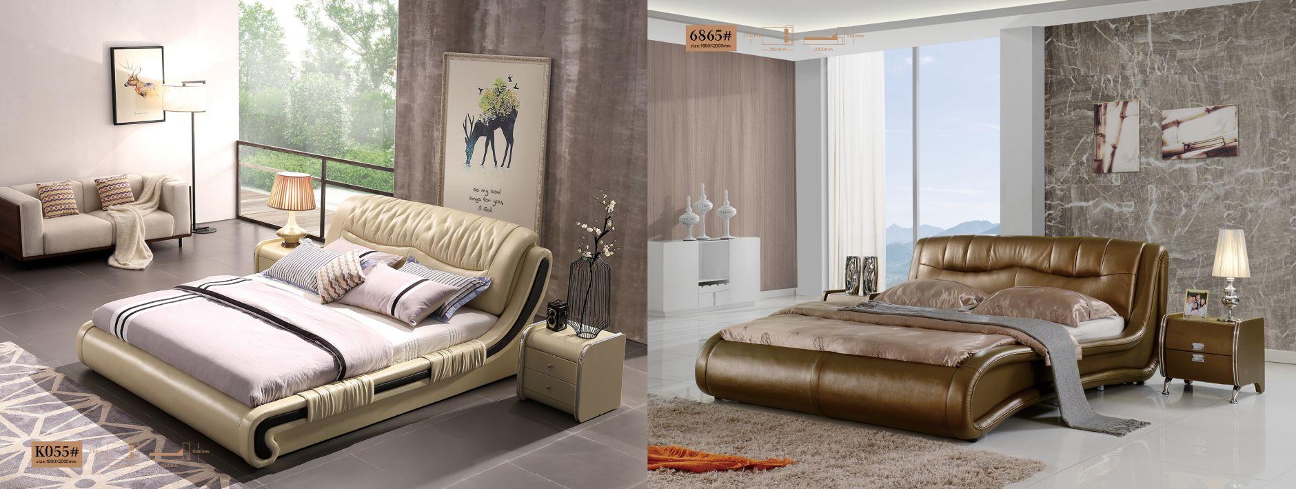 Chambre à coucher en cuir - Chambre à coucher modèle k055 et ...