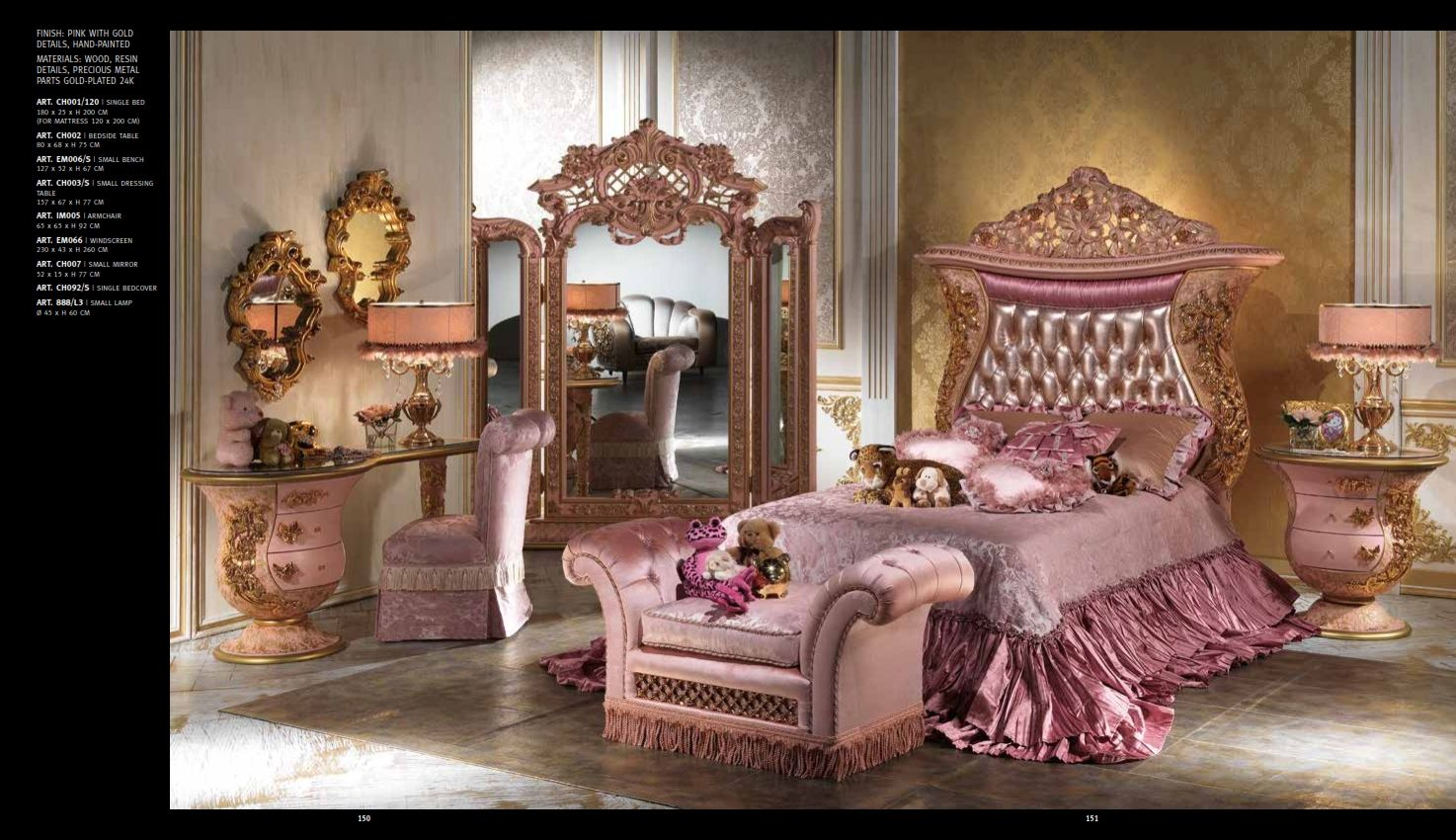 Luxus Schlafzimmer CAPPELLETTI IMPERIAL Serie