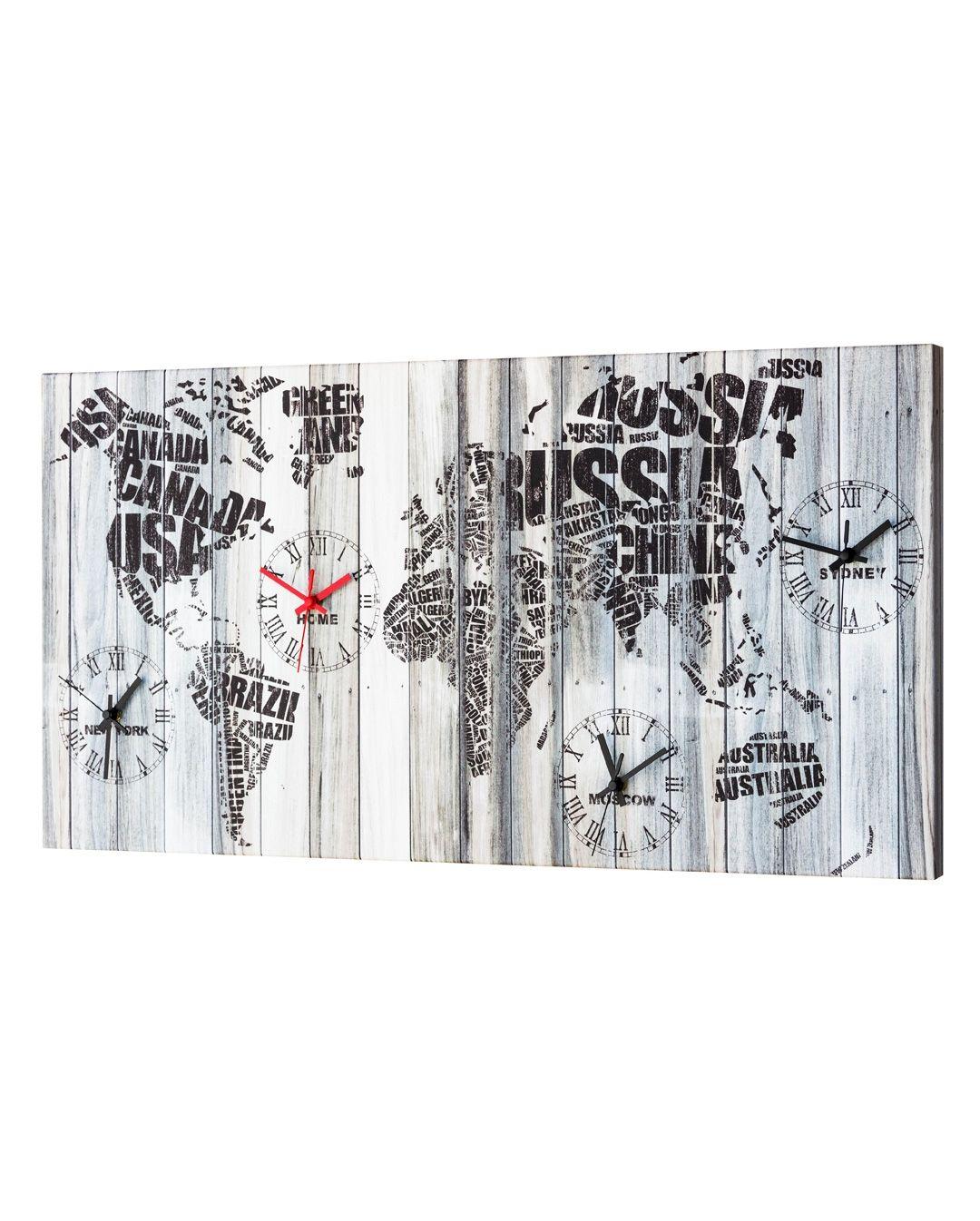 Uhr für die Wand - Wanduhr Welt MuralesDie Möbel aus Italien