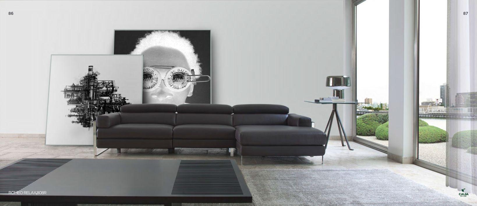 sofa sectionnel calia italia srie romeo relax 808r