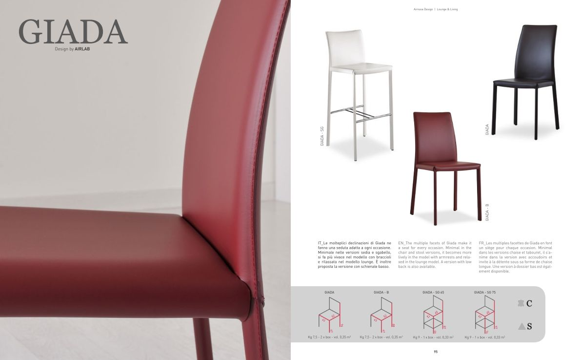 Esszimmerstühle Giada Trapezaren Stuhldie Möbel Aus Italien