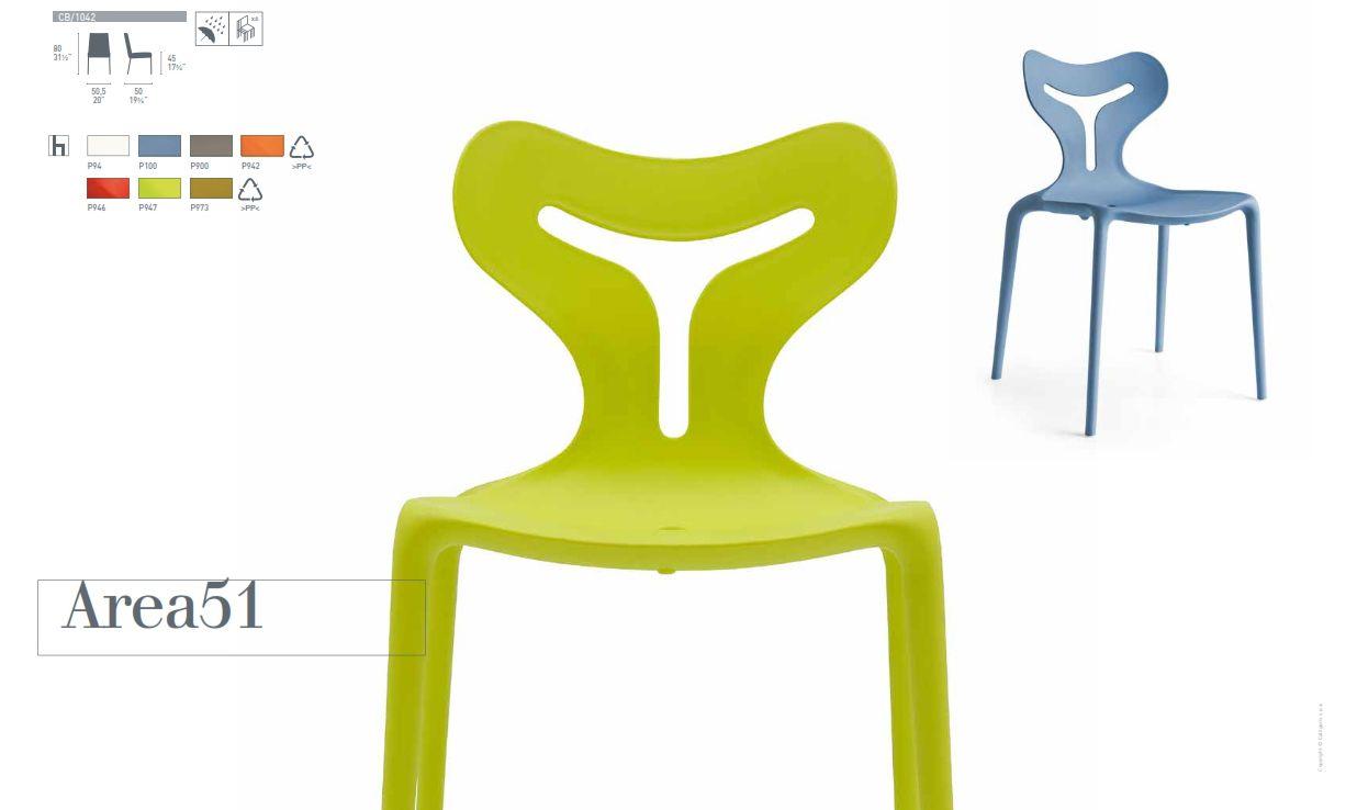 Gartenstühle - Trapezaren AREA51 Calligaris Stuhl-SerieDie Möbel aus ...