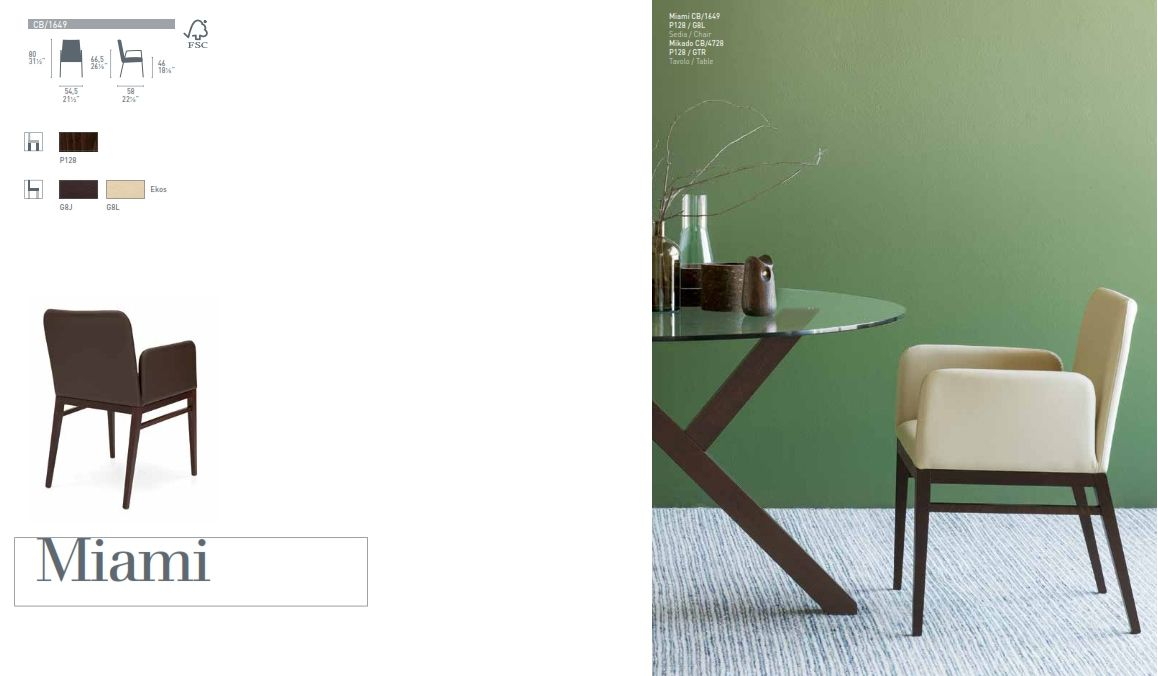 Dining Chair Calligaris MIAMI Series