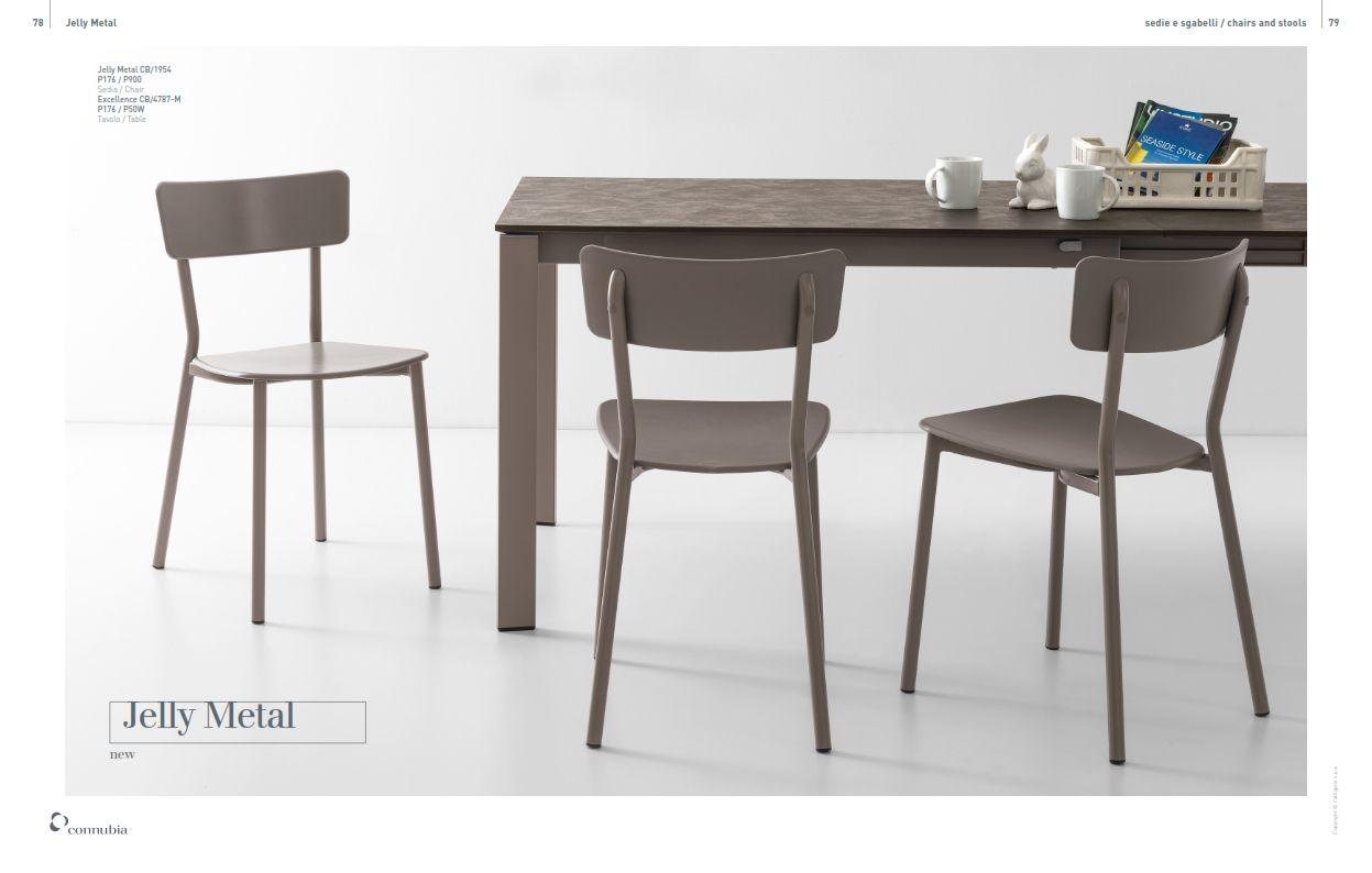 Exquisit Esszimmerstühle Metall Ideen Von Trapezaren Serie Metall-stuhl Calligaris Gelee