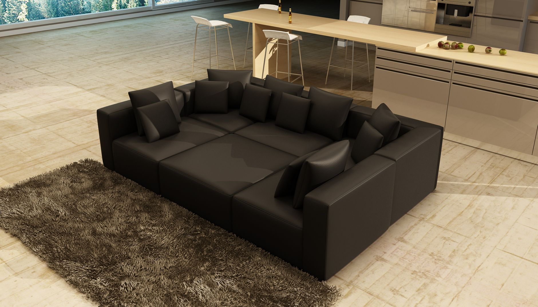 polsterm bel schnittsofa modell 206die m bel aus italien. Black Bedroom Furniture Sets. Home Design Ideas