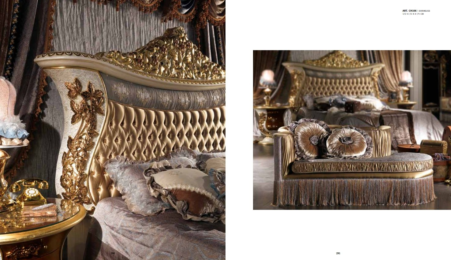 Luxurious Furniture Luxury Bedroom Cappelletti Charme