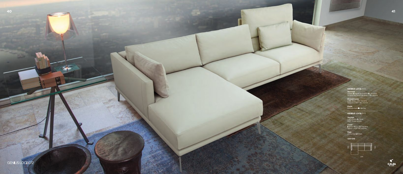 Sofa sectionnel sofa sectionnel calia italia s rie for Meuble leon divan sectionnel