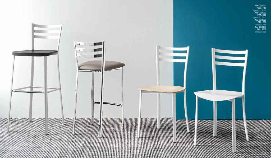 Bar hocker und bars trapezaren stuhl bar stuhl calligaris series