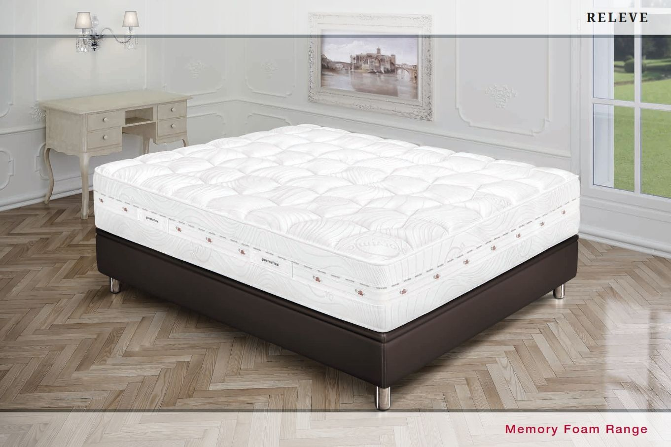 matelas de luxe permaflex matelas releve luxe s rieles. Black Bedroom Furniture Sets. Home Design Ideas