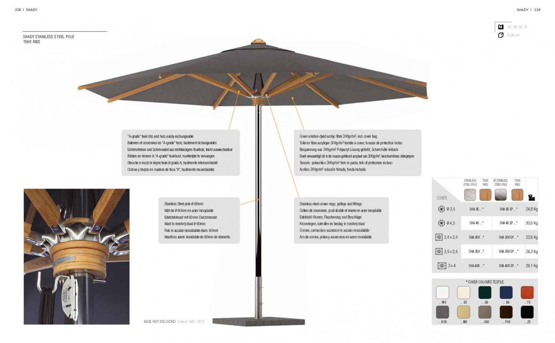 parasols de jardin c tes de p le teck jardin. Black Bedroom Furniture Sets. Home Design Ideas