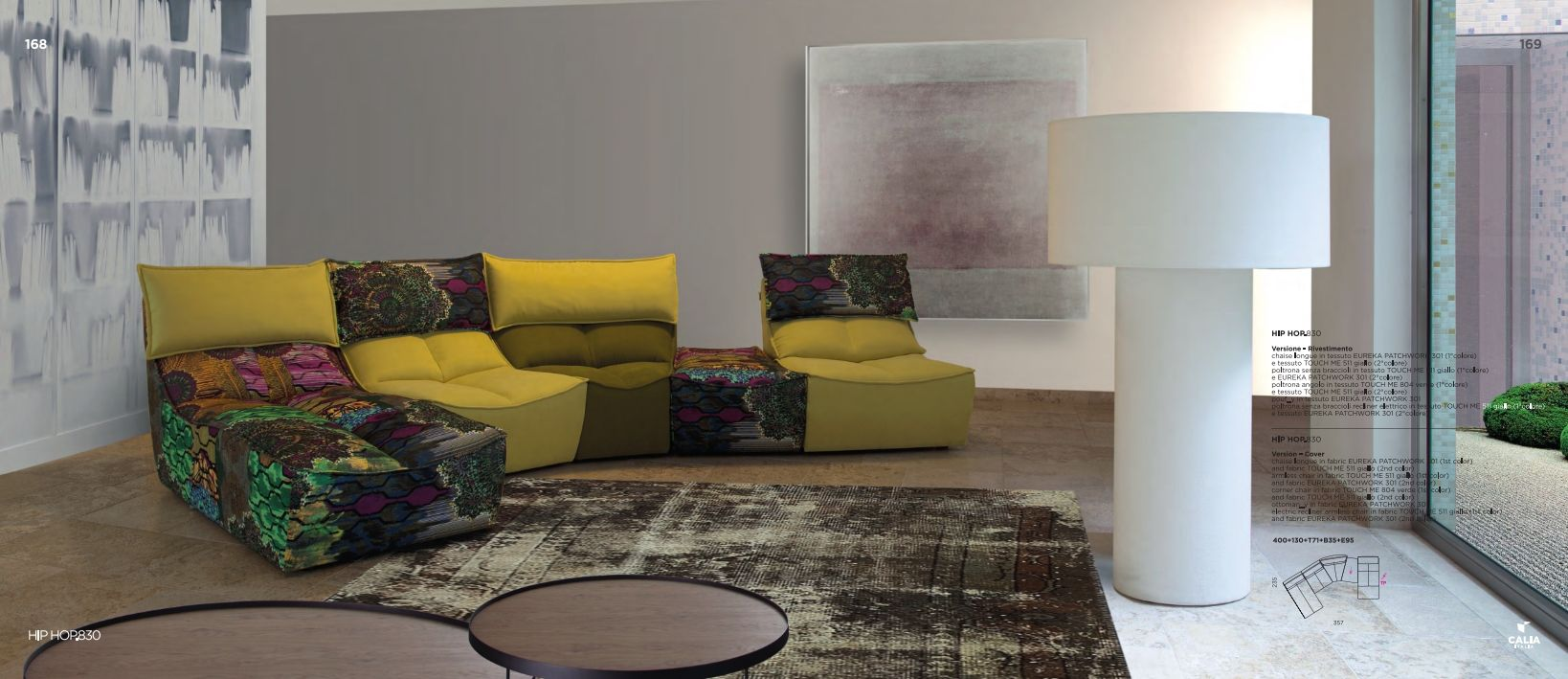 Sectional Sofas - Sectional Sofa Calia Italia HIP HOP 830 ...