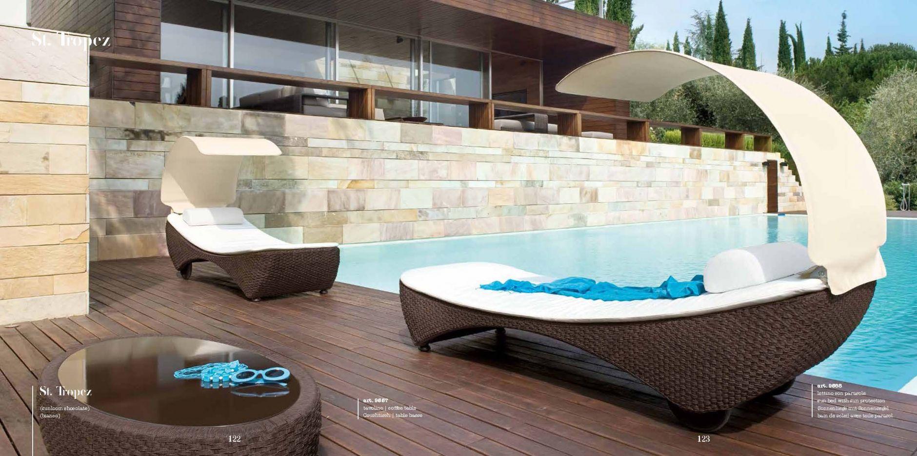 chaises longues jardins jardin salon s rie st tropez roberti les meubles de l 39 italie. Black Bedroom Furniture Sets. Home Design Ideas
