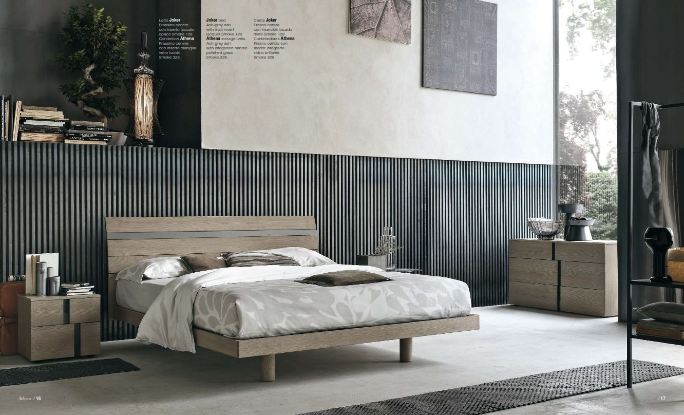 Perfect chambre coucher tomasella srie joker with meuble for Chambre design italien