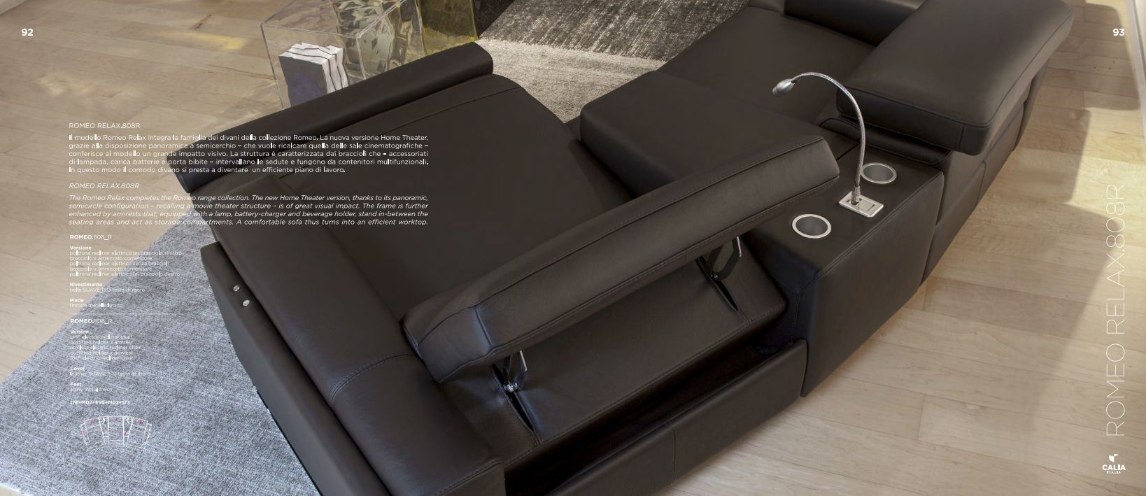 relax canap s et fauteuils sofa sectionnel calia italia. Black Bedroom Furniture Sets. Home Design Ideas