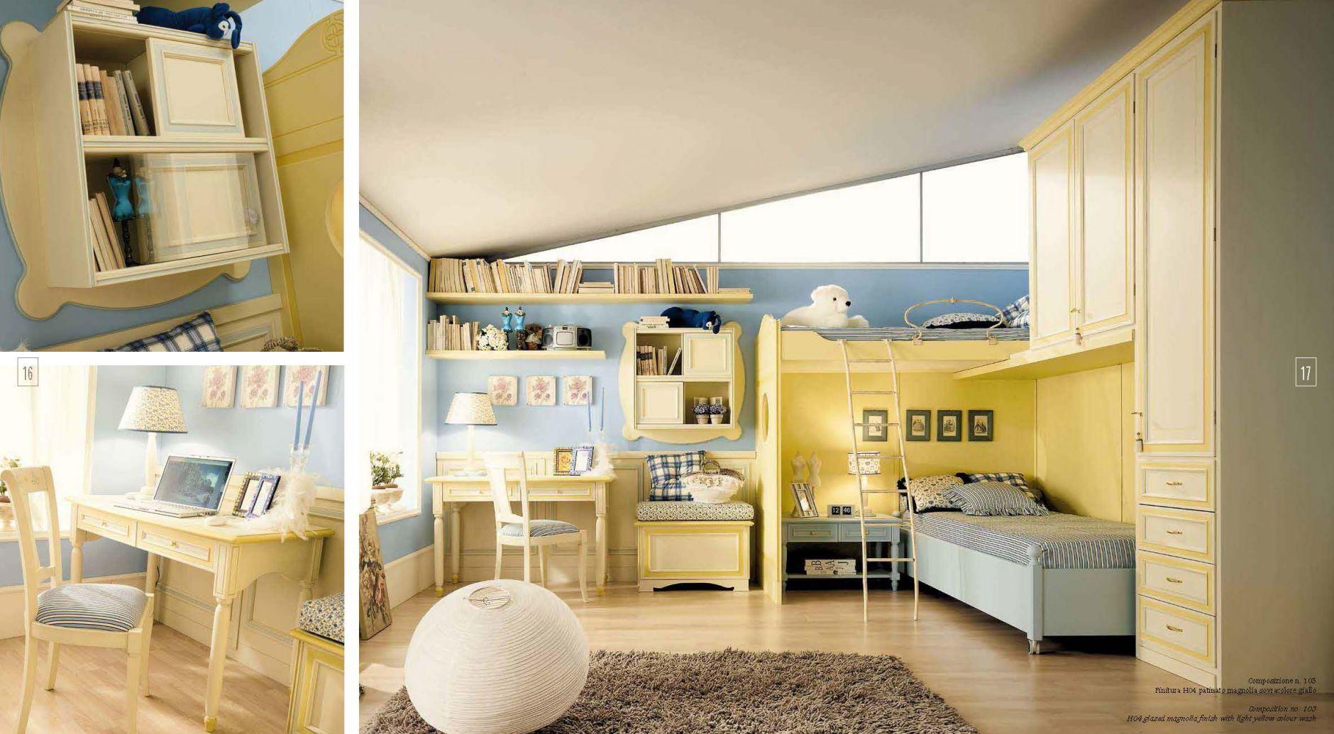 kinderm bel kinder schlafzimmer ferretti ferretti zusammensetzung 103die m bel aus italien. Black Bedroom Furniture Sets. Home Design Ideas