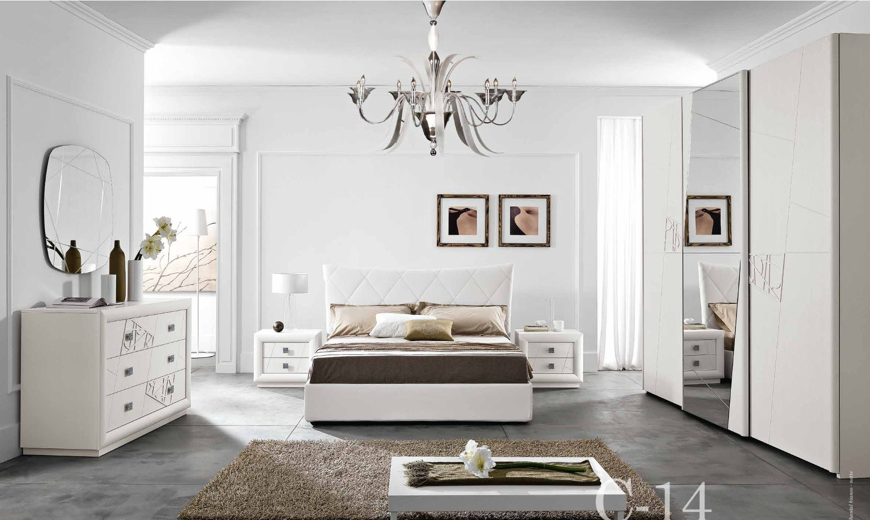 klassische m bel schlafzimmer komposition mit chantal mobilpiu serie 14die m bel aus italien. Black Bedroom Furniture Sets. Home Design Ideas