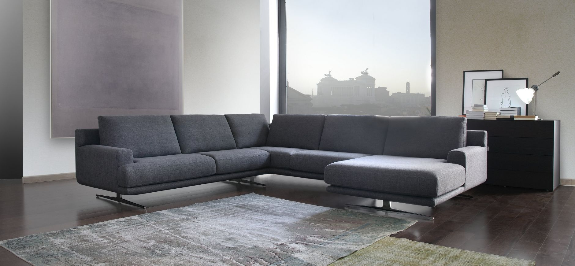 Sectional Sofa Calia Italia Cosmo 1020 1024 Series