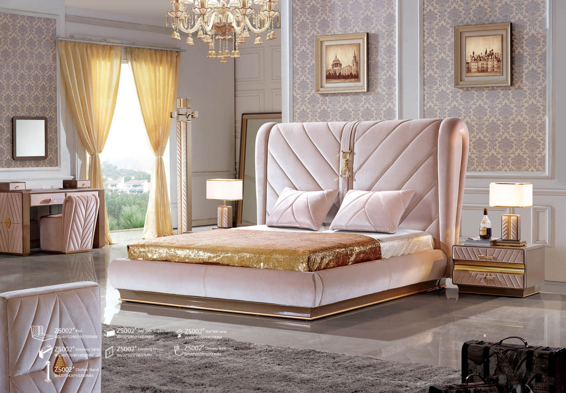 Schlafzimmer designer schlafzimmer serie zs002die m bel - Designer schlafzimmer ...