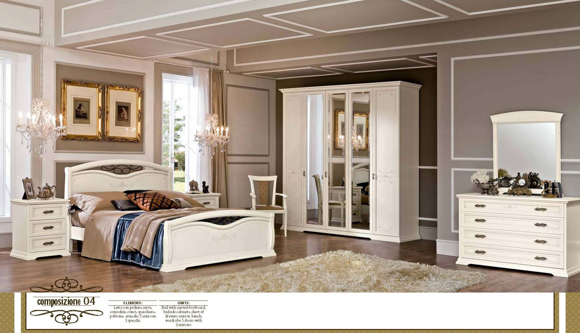 schlafzimmer acf serie afrodita komposition 4die m bel aus italien. Black Bedroom Furniture Sets. Home Design Ideas