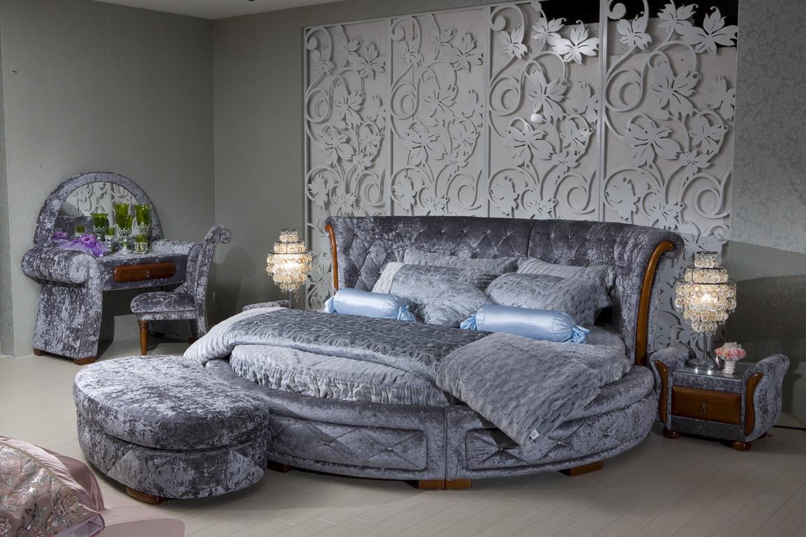 Спальня: круглая кровать