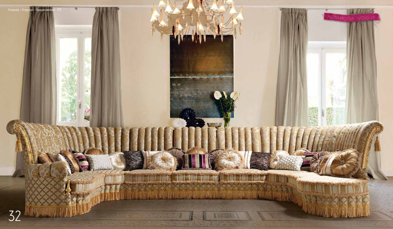 Luxurious Furniture Luxury Sectional Sofa Altamoda Model