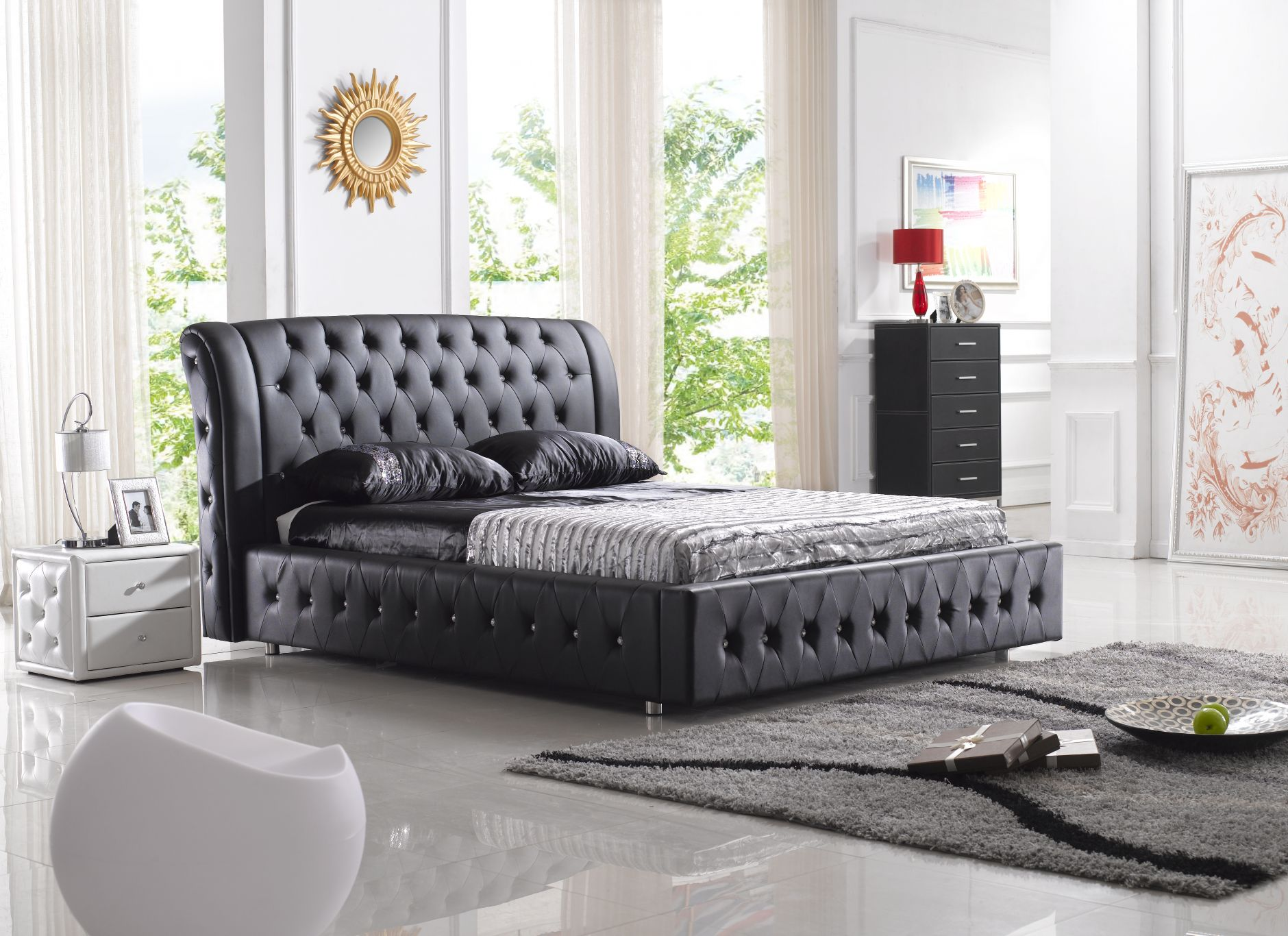 elegant chambre coucher de cuir modle b with meuble italien chambre a coucher. Black Bedroom Furniture Sets. Home Design Ideas