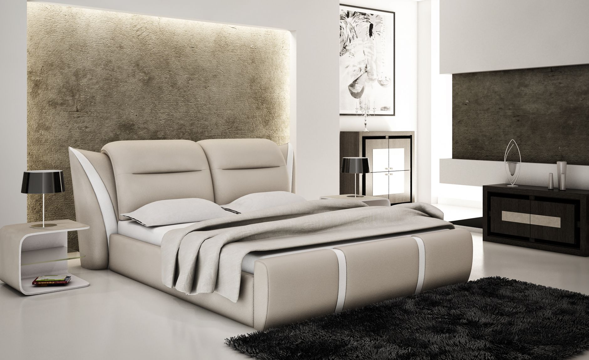 Modele chambre a coucher for Mobilier pour chambre adulte