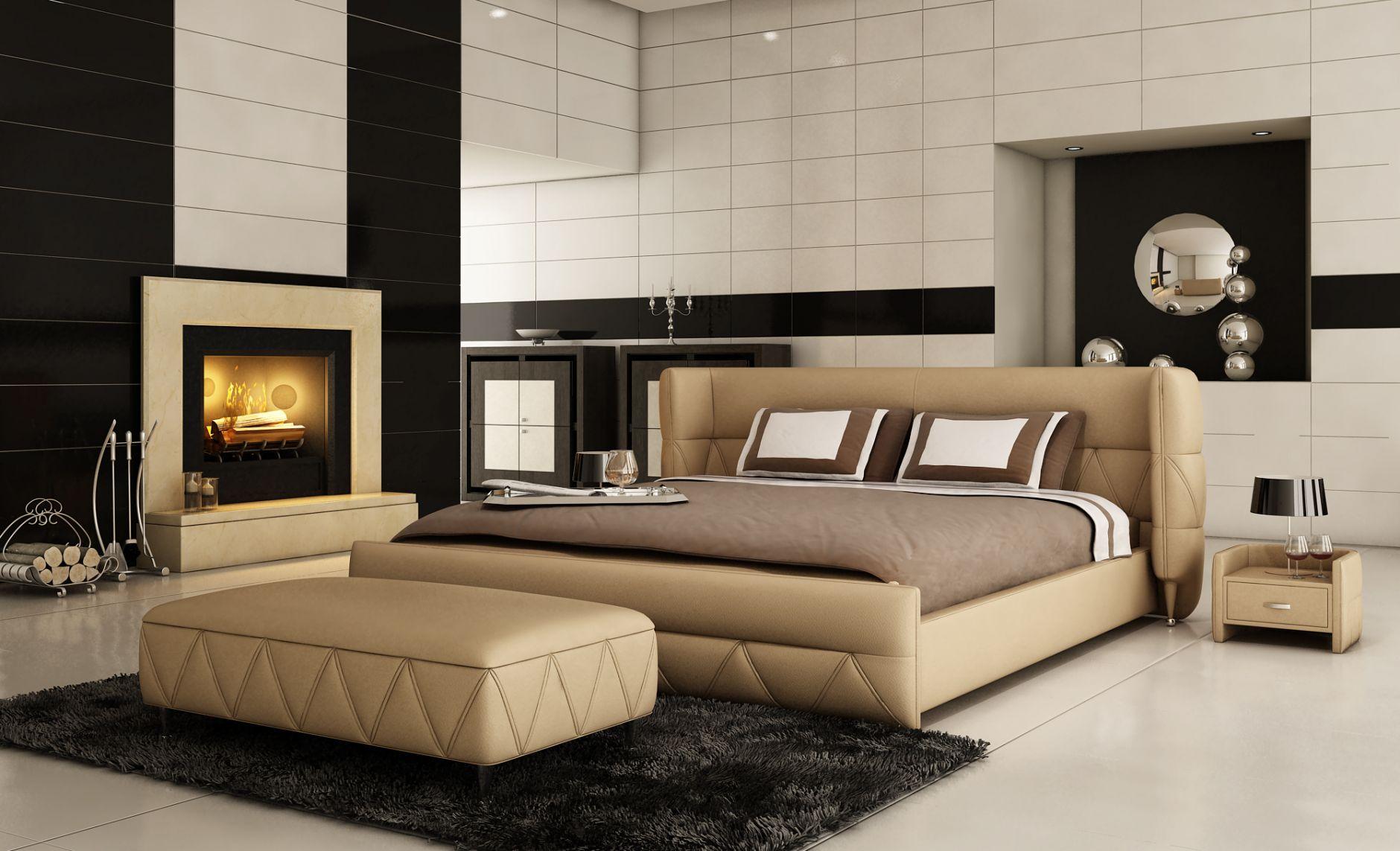 Chambre  coucher en cuir Chambre  coucher de cuir mod¨le