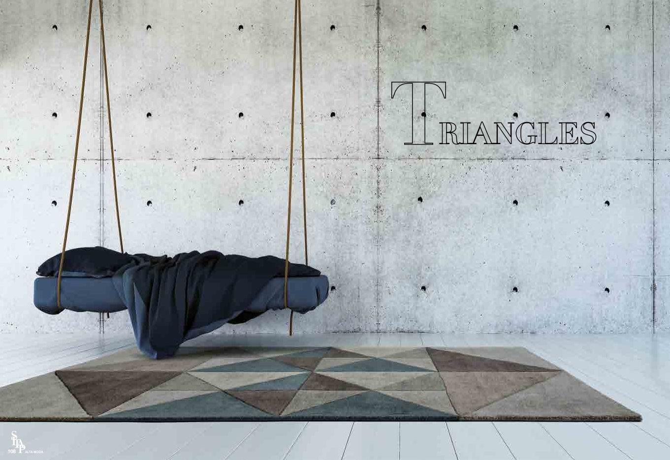 Teppiche italienische teppiche sitap serie dreieckedie - Italienische designer wandspiegel ...