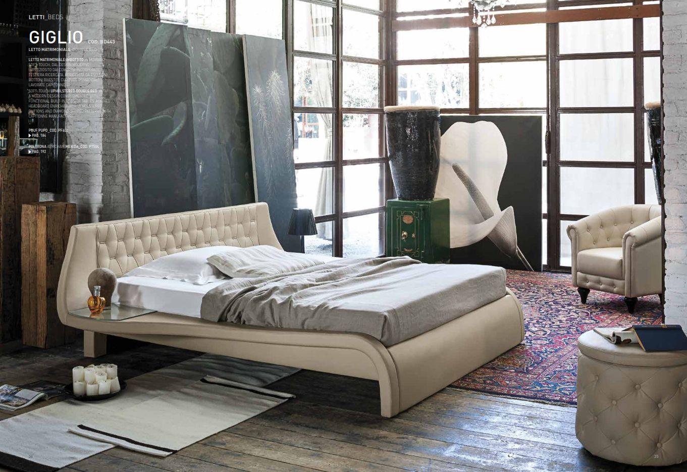 Leder-Schlafzimmer - Leder Schlafzimmer Target Point Serie GiglioDie ...