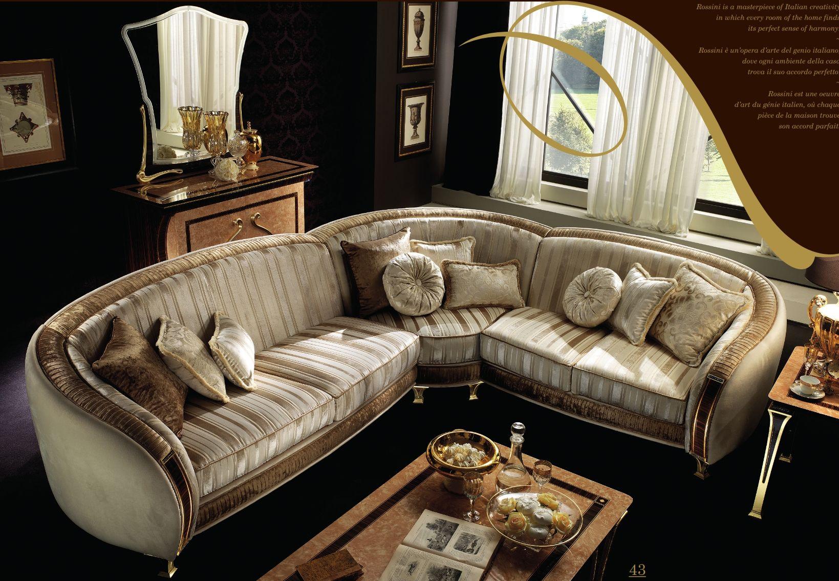 klassische m bel schnittsofa serie arredoclassic rossinidie m bel aus italien. Black Bedroom Furniture Sets. Home Design Ideas