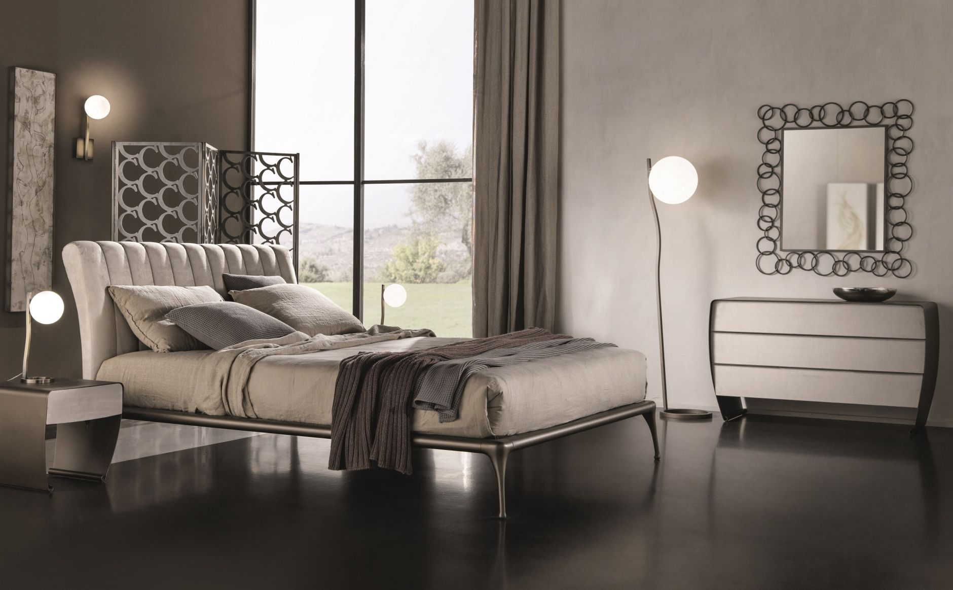 Chambre coucher cantori iseo srie with meuble italien for Chambre design italien