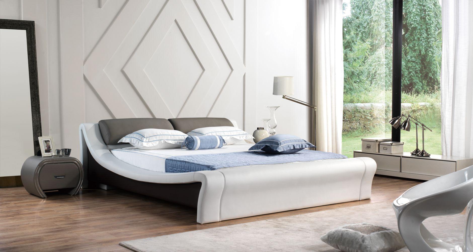 Chambre coucher en cuir chambre coucher de cuir for Modele meuble chambre a coucher