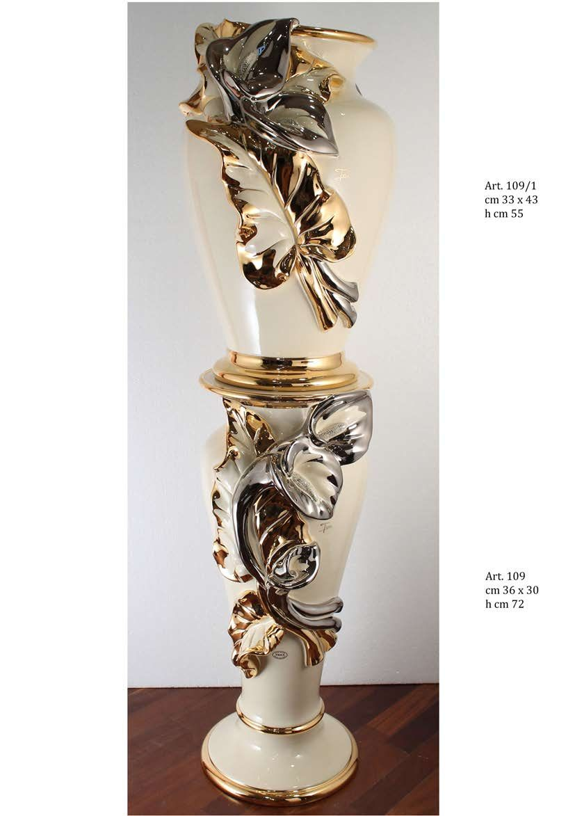 Home decorations decorative column trea ceramiche calle - Ceramiche decorative ...
