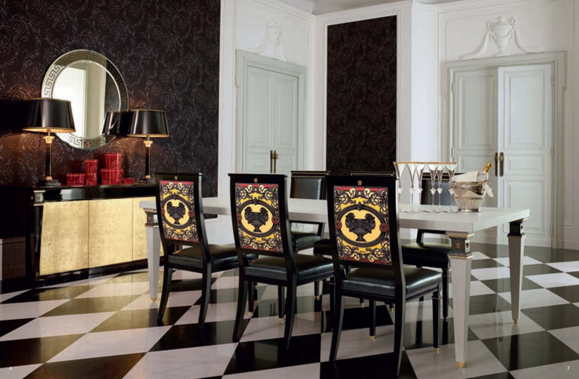 Versace Furniture Dining Room Versace Obelisco Seriesfurniture From Italy