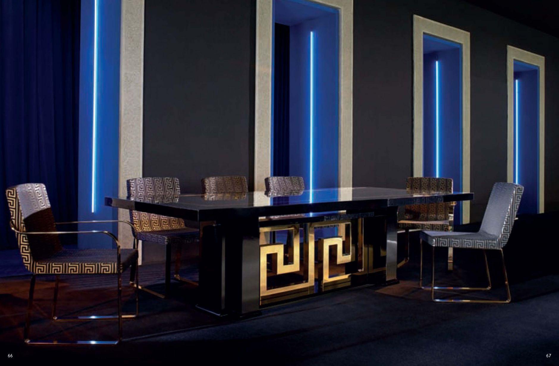 Unique dinning tables images dining room design ideas for Salle a manger versace