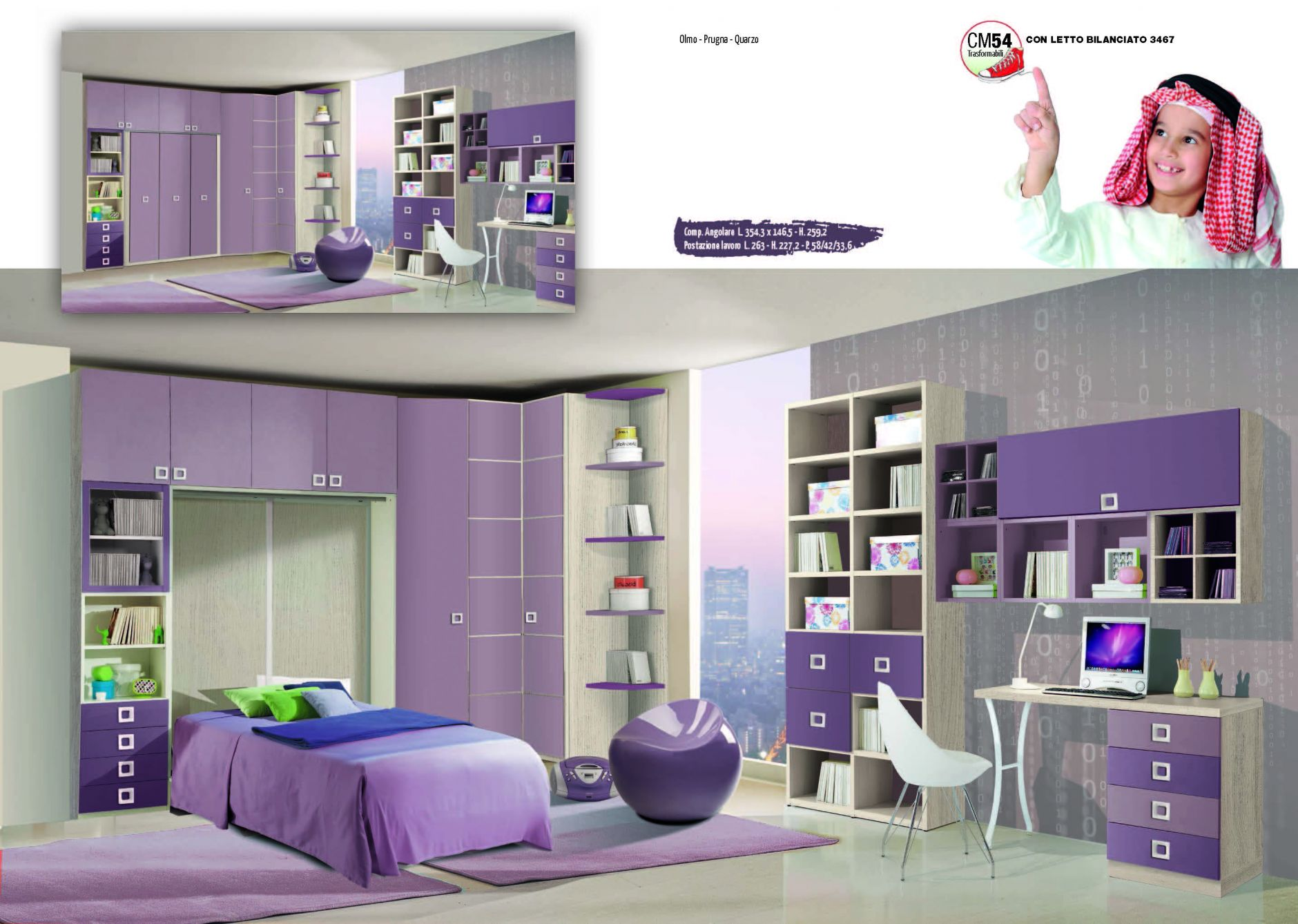 Muebles De Los Ni Os Muebles Giessegi Sm54 Composici N  # Giessegi Muebles Infantil