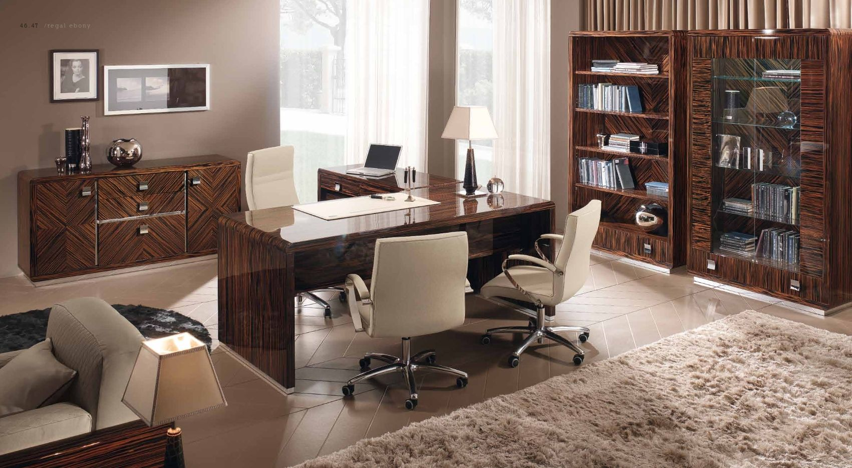 srie de meubles de bureau luxe bne sab regal with meuble italien de luxe. Black Bedroom Furniture Sets. Home Design Ideas