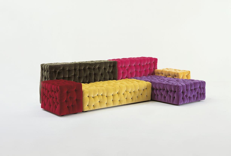 Дизайн дивана с пуговицами