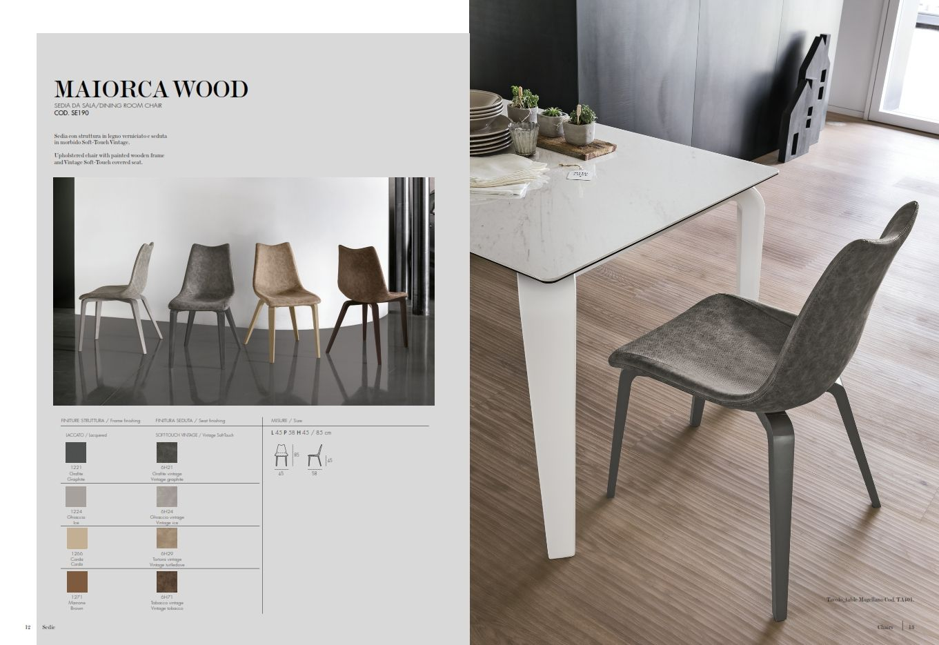 Dining chair target point maiorca wood series