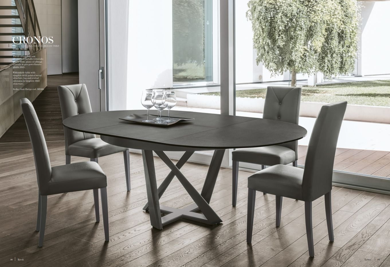 Dining table target point cronos series