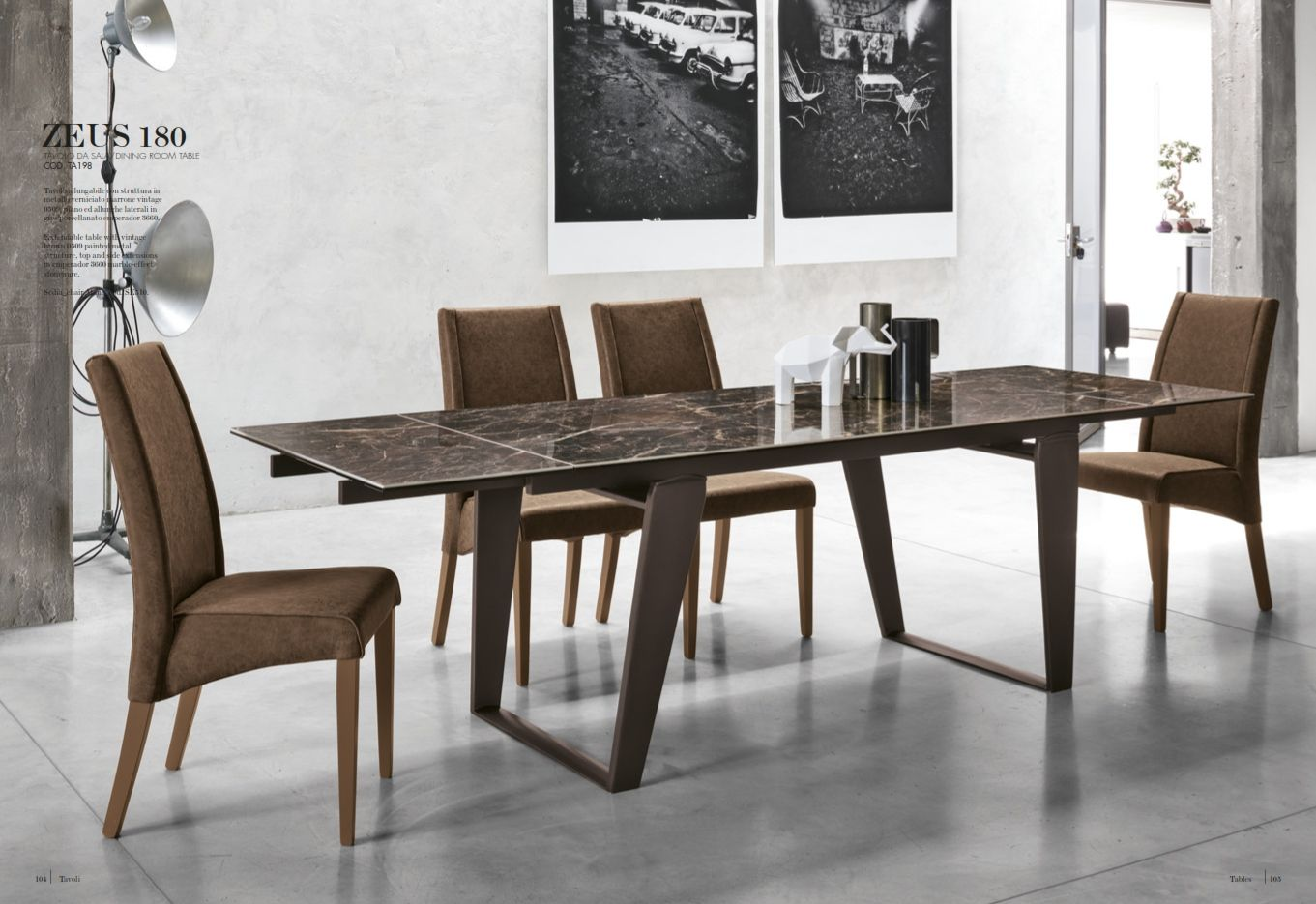 Dining table target point zeus series