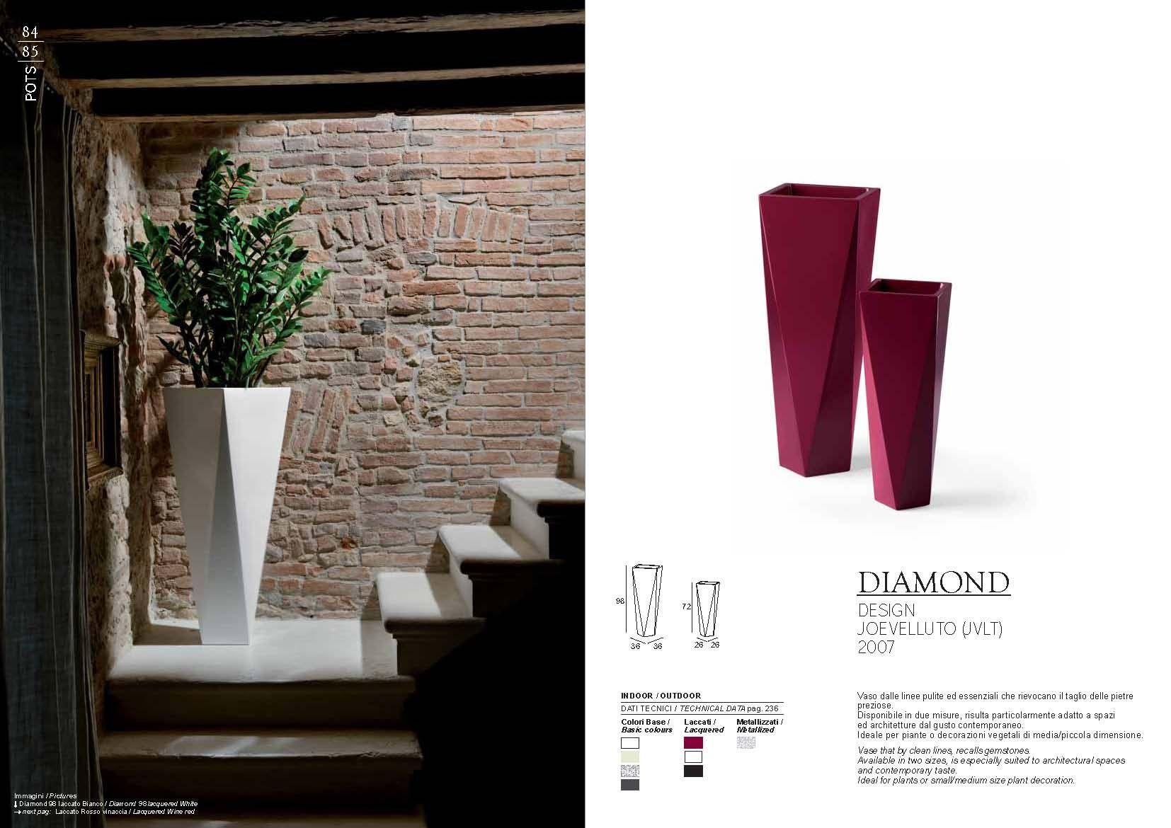 Gartenmöbel - Pot Plust Collection DIAMOND SerieDie Möbel aus Italien