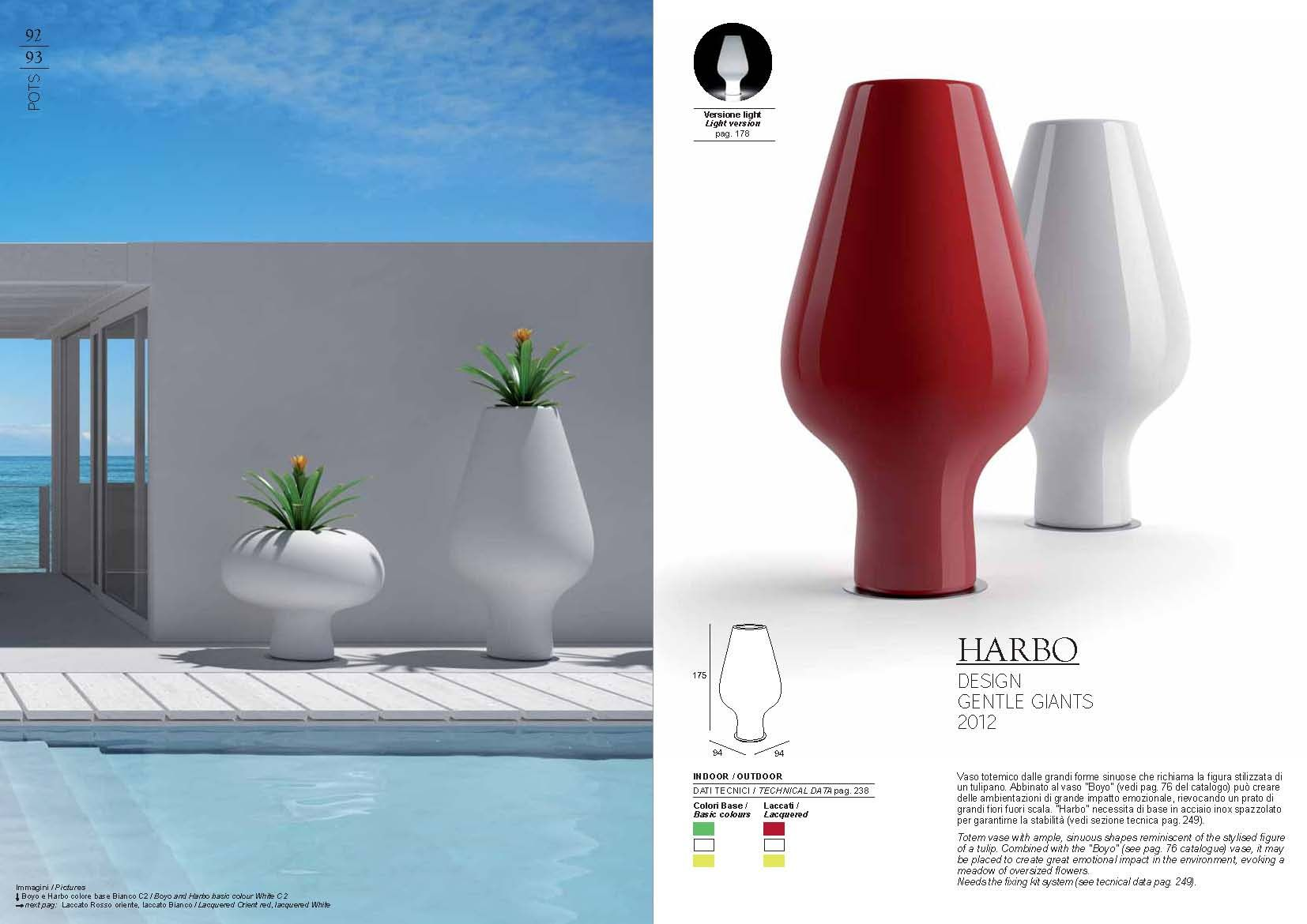 Muebles de jardín - Olla Plust Collection serie HARBOMuebles de Italia
