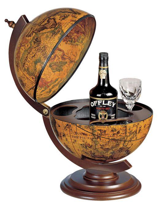 bar globen und landkarten bar globus retro ebenholz. Black Bedroom Furniture Sets. Home Design Ideas