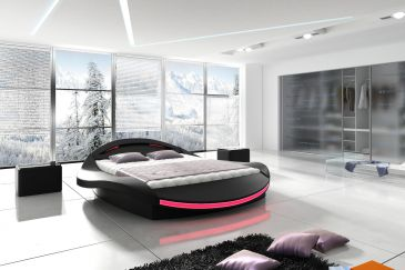 Round Leather Bedroom Model N600