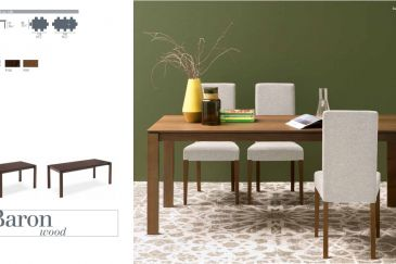 Dining Table Calligaris BARON WOOD Series