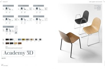 Dining Chair Calligaris ACADEMY-3D Series