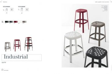 Bar Stool Calligaris INDUSTRIAL Series