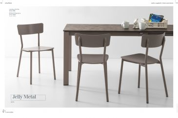 Dining Chair Calligaris JELLY METAL Series